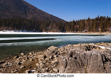 Lago di Fusine in Winter - Friuli Italy - The Fusine Lake...
