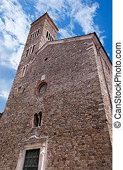 Church of Saint Andrew - Sarzana Italy - Facade and bell...