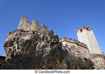 Scaliger Castle of Malcesine - Veneto Italy - Castello...