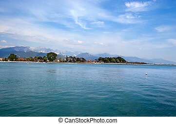 Magra River - Liguria and Toscana Italy - The Mouth of the...