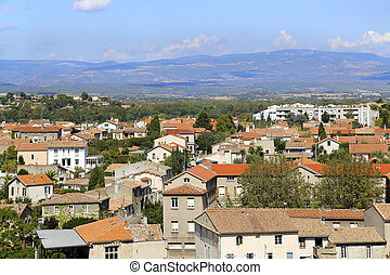 Panorama of Carcassonne - Carcassonne lower town, panorama,...