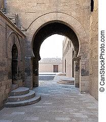 pasajes,  ibn, mezquita, Uno, circundante,  tulun, arco