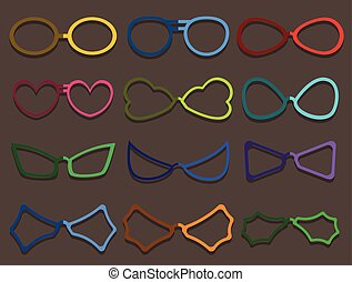 Colorful Fancy Specs Frames Set