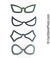 Fancy Grunge Goggles Frames Vector