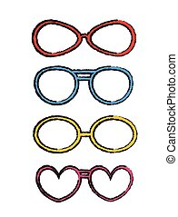 Rough Colored Fancy Goggles Frames