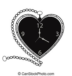 Heart Shape Retro Pocket Clock