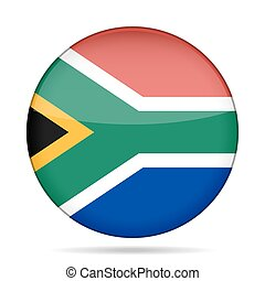 button with flag of South Africa