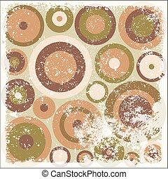 Grunge Vintage Circles Pattern BG - Grunge Vintage Circles...