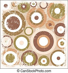 Rugged Circles Pattern Background Vector Illustration
