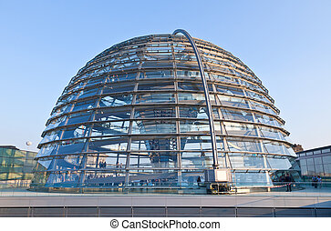 Reichstag building in Berlin - The Cupola on top of the...