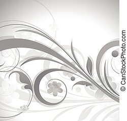 Vintage Flourish Background Vector Illustration