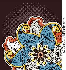 Decorative Colored Henna Design BG - Decorative Colored...