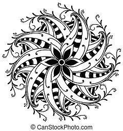 Curled Flourish Design