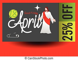 Good Friday Special Coupon Voucher Vector Illustration
