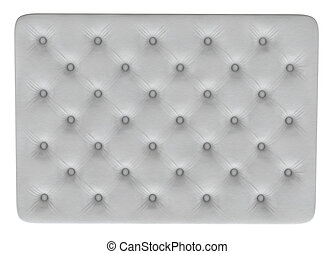 White mattress texture 3D render