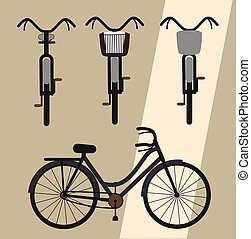 Classic Bicycles Designs Vector Illustration