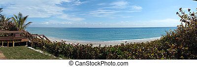 Highland Beach Florida - looking out at Highland Beach with...