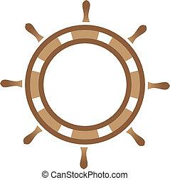 barco, entrepuente, rueda