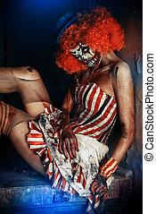 assustador, Circo, Palhaço