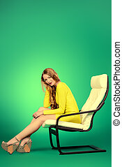 woman on a chair
