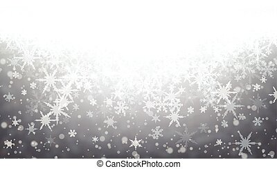 Gray winter background with snowflakes. Vector illustration.