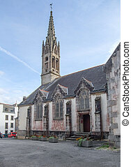church at Pont-Aven in Brittany - Idyllic church at...
