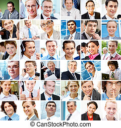 Business people - Collage with businesspeople in different...