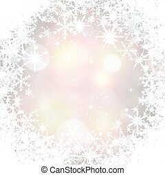 Winter background with snowflakes. - Winter shining...