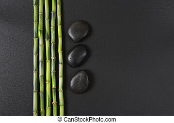 Spa concept with zen stones and bamboo - Spa concept with...
