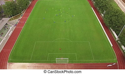 Soccer field. Top view - HD - Soccer field. Top view