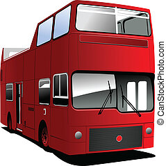 An open topped tour London bus Vector illustration