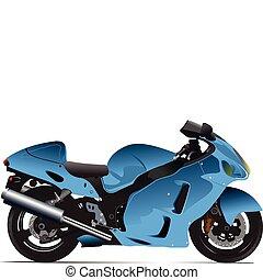 Sketch of motorcycle. Vector illus