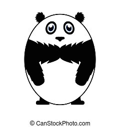 Isolated animal - Isolated cute panda on a white background,...