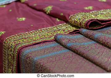 Silk fabric Thai and Asia style