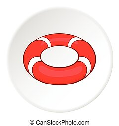 Lifeline icon, cartoon style - Lifeline icon. Cartoon...