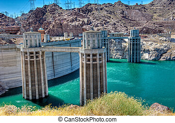 Hoover Dam - View of Hoover Dam. Hoover Dam, is a popular...