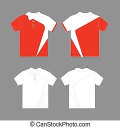 Modern polo shirt design template vector
