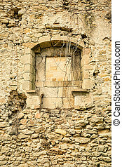 Crumbling wall
