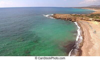 wild beach of cyprus island