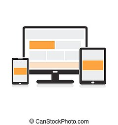 Responsive design for web computer, tablet, smartphone...