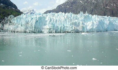 View of Margerie Glacier at Glacier Bay National Park,...