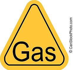 警告, 三角形, 气体, 黃色, 圖象