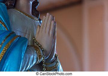 vergine,  Mary, statua