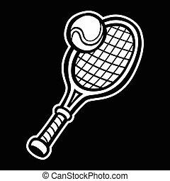 Tennis Racquet & Tennis Ball