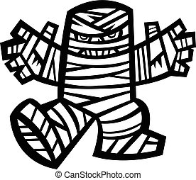 Spooky Mummy Character