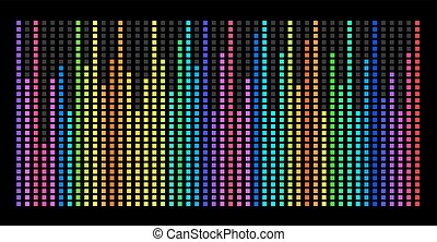Colorful music spectrum. eps 10 vector illustration