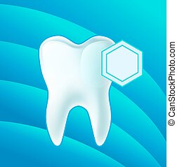 Concept teeth protection. eps 10 vector illustration