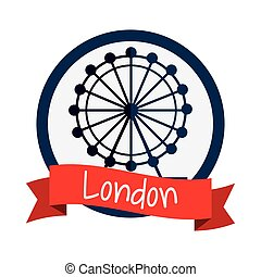 Isolated london eye design - Eye wheel icon. London england...