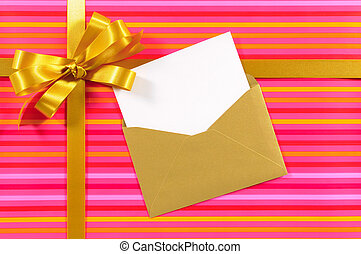 Candy stripe gift XL - Christmas or birthday card with gift...