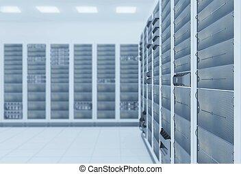 network server room - computer network server room 3d render...